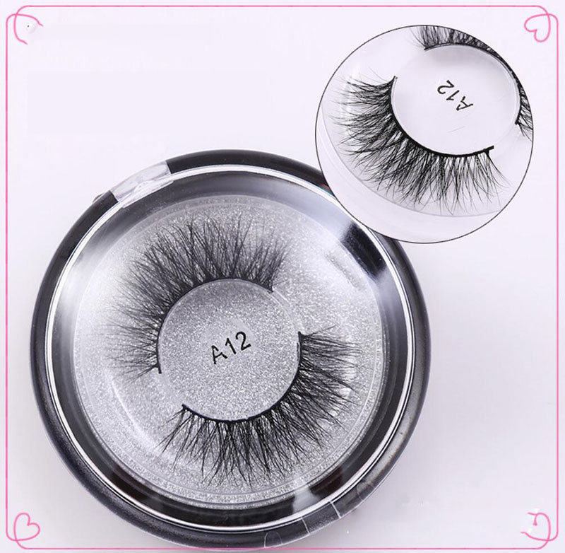 A12 Luxurious 3D Mink False Eyelashes Thick Fake Eye Lashes Full Strip Eyelash Extentions Cilios Naturais Eye Makeup Tools