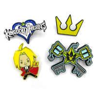 Kingdom hearts paio di bambini delle donne degli uomini di 90s divertente cartone animato zaino vestiti fai da te decorazione Smalto Spille distintivo pin collare regali