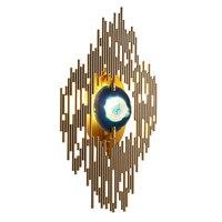 Настенный светодиодный настенные светильники металлический стержень comno с агатом аксессуар для отеля проход роскошные классические деко с