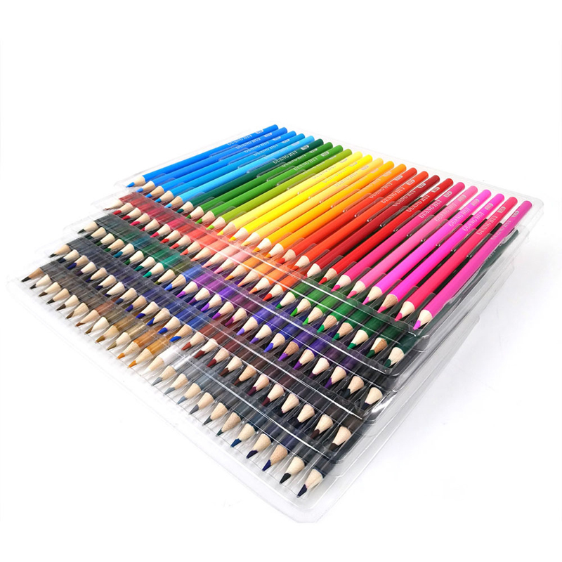 120 Couleurs Bois Crayons de couleur pour Artiste Peinture À L'huile Couleur Dessin Croquis Art Crayon D'école Des Élèves Papeterie Fournitures