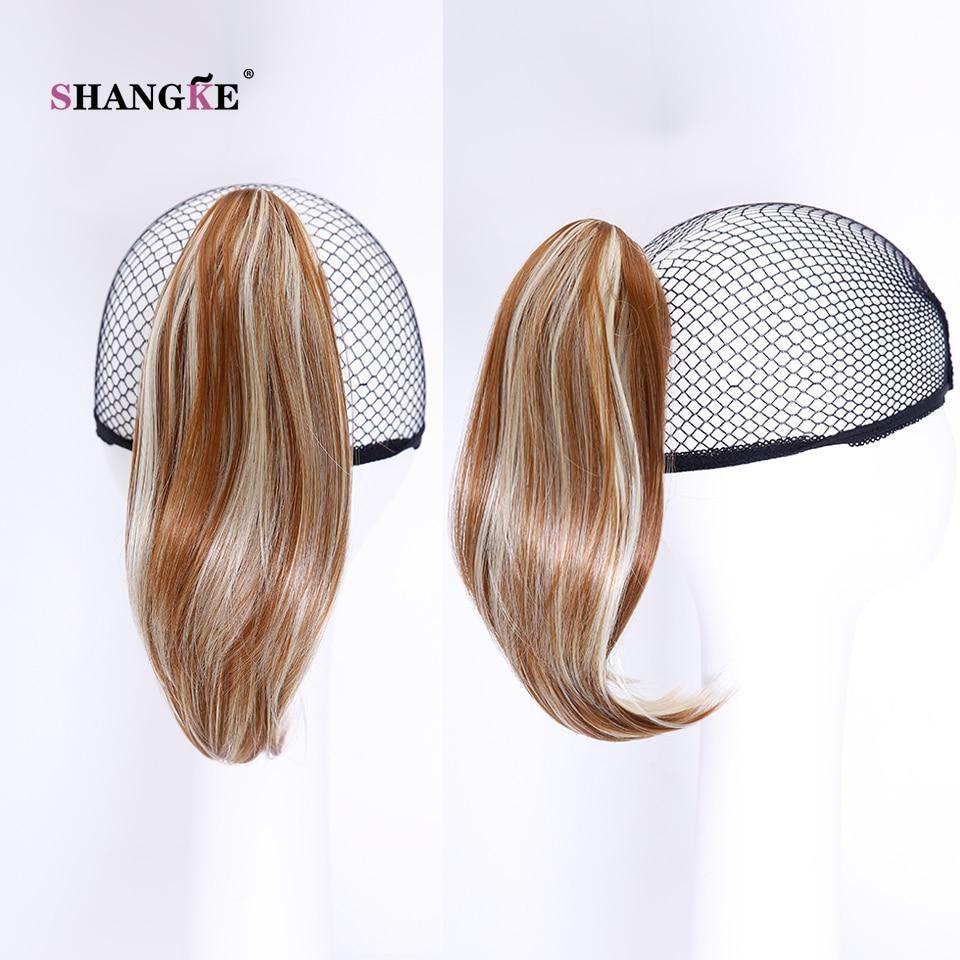 SHANGKE Hair 6 '' Short Hästsvans Naturlig Svart Klaw Drawstring - Syntetiskt hår - Foto 4