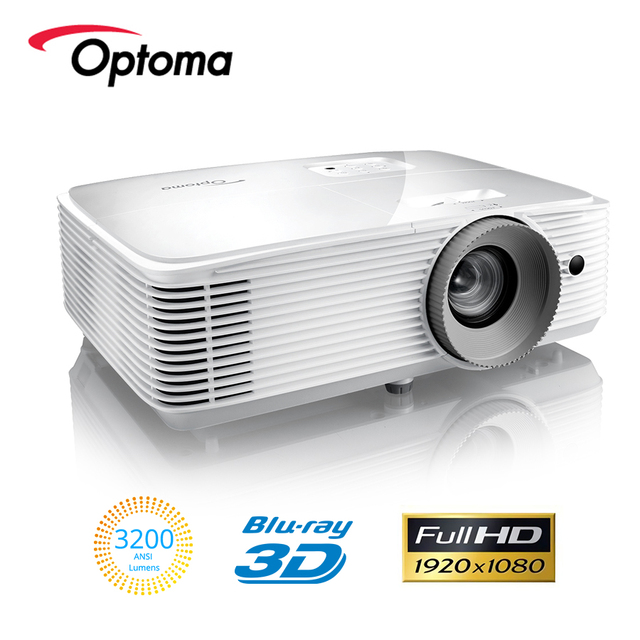 Optoma HD300 DLP מותג מקרן native 1080P רזולוציה 3200 ANSI לום Blu ray 3D LED נייד FHD Beamer עבור בית קולנוע HDMI