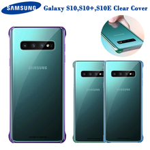 Samsung Original Transparent TPU Cover Phone Case For Galaxy S10 X SM-G9730 S10+ Plus SM-G9750 S10e E SM-G9700