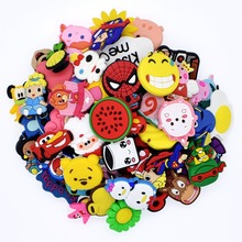 50Pcs Mixed Cartoon Random Different Shoes Charms Fit Croc Shoes/Wristbands Chil