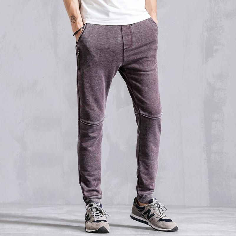 Brand 2018 Spring Autumn Sweatpants Casual Sweat Pants Men Pencil Harem Male Trousers Joggers Tracksuit Clothes K1002