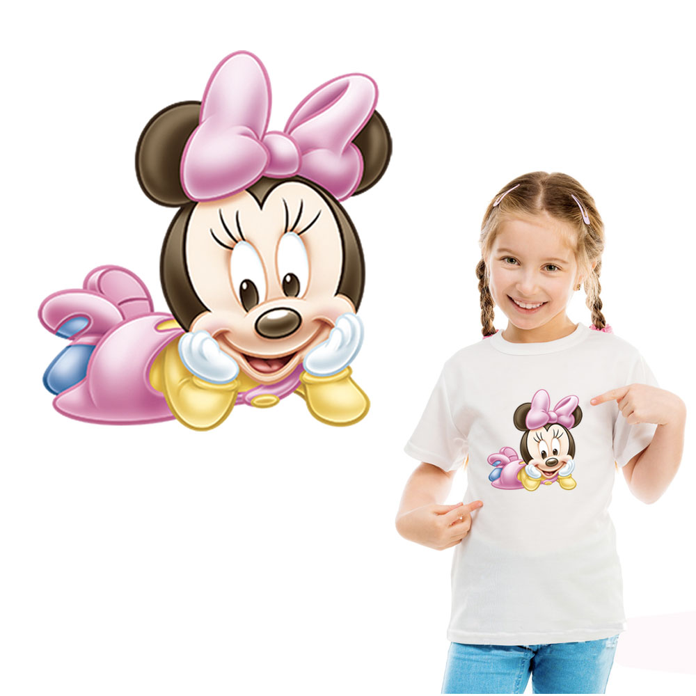 cartoon girls iron on transfer for clothes appliques A level ironing patches for kid DIY T shirt accessory clothes sticker in Patches from Home Garden