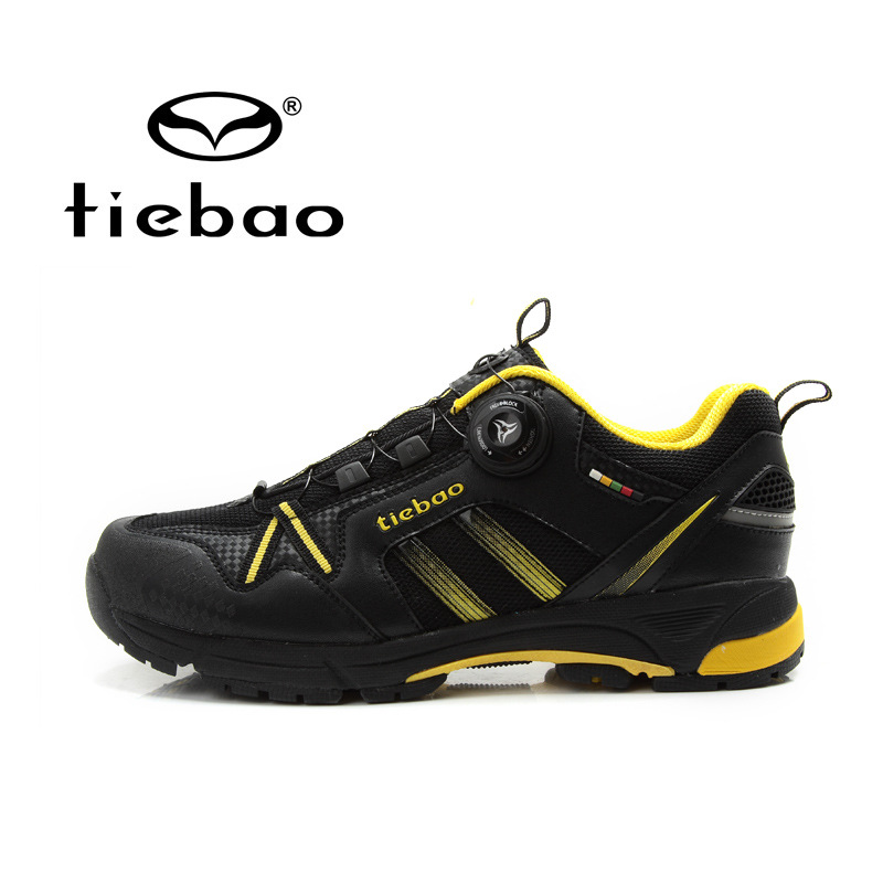 Tiebao MTB Cycling Shoes Mountain Bicycle Shoes Self-lock Bike Shoes Anti-slip Leisure Athlitic Shoes zapatillas ciclismo west biking bike chain wheel 39 53t bicycle crank 170 175mm fit speed 9 mtb road bike cycling bicycle crank