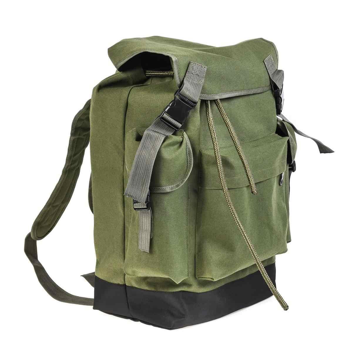 70L вместительный Многофункциональный зелено-армейский брезентовый сумка для Карповой ловли рыболовные снасти рюкзак