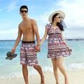Free Shipping !  Men Women Beach Swimwear Flower Plaid Stripe Star Lovers Couple Swimming  Wear Beach Shorts