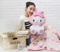 candice guo super cute plush toy doll pink my melody cushion blanket girls birthday gift 1pc