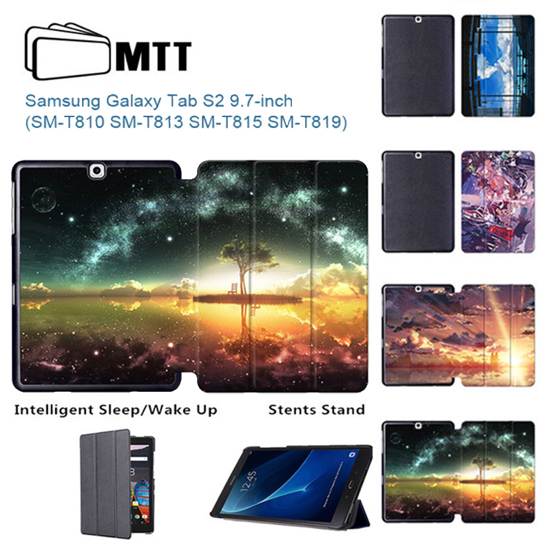 MTT Anime Sky Case For galaxy Tab S2 Protective Pu Leather case For samsung galaxy Tab S2 9.7 SM-T810 T815 T813 9.7