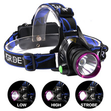 цена на PANYUE 1000LM T6 LED Headlight 3-Mode Zoom Headlamp Waterproof Head Torch Camping Frontal Lantern Hunting Flashlight