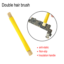UANME Anti-static Double Brush Insulated handle motherboard IC Chip BGA Circuit board Cleaning tools 1pcs brand new elpida w4032babg 70 f bga ic chip