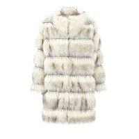 faux fur Winter Luxury Faux Fox Fur Coat Slim Long Faux Fur Jacket Women Fake Fur Coats manteau fourrure