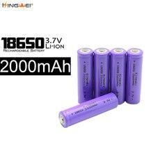 100pcs lot Kingwei New 18650 Battery 3 7v 2000mah Rechargeable For Laser Pen Powerbank E cigarette