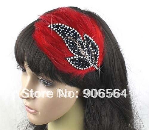 3 цвета на выбор, ободок для волос с перьями, головные уборы, вечерние аксессуары для волос,, опт и розница, 3 шт./партия