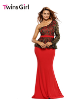 New 2015 Sexy Autumn Dress Full Sleeve Romantic Night Embroidered Floral Carving Prom Party Gown LC60814