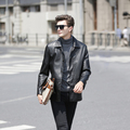 Autumn Brand Leather Jacket Men Jaqueta Couro Masculino Bomber Leather Jacket Sheepskin Coat Motorcycle Jacket