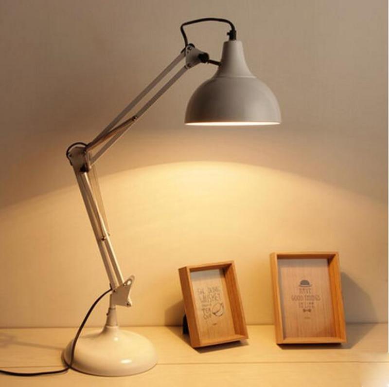 Northern europe modern study desk lamp for bedroom white for Nachtkast lamp