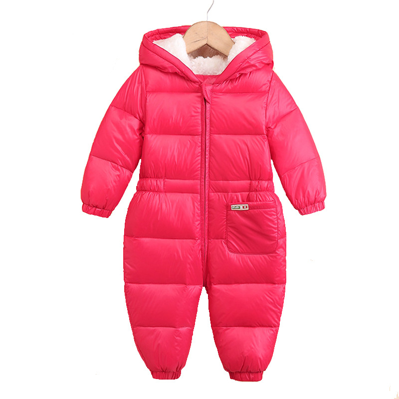 Winte New Kids Warm Jumpsuit Children Padded Infant Jacket Siamese Newborn Baby Romper Climbing Suit Clothing Down Jacke