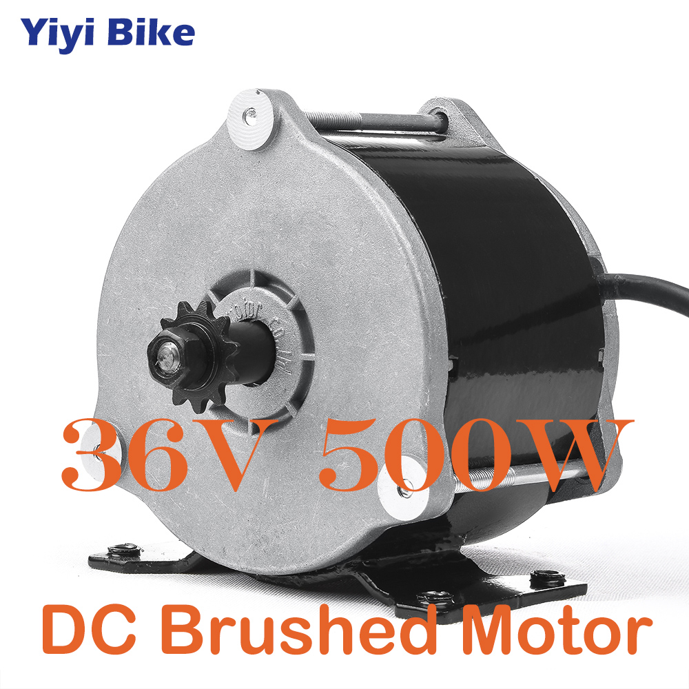 UNITE <font><b>DC</b></font> Brushed <font><b>MOTOR</b></font> Gear High-Speed 36V <font><b>500W</b></font> <font><b>Motor</b></font> For Electric <font><b>Bike</b></font> Scooter Conversion kiti MY1018E-D image