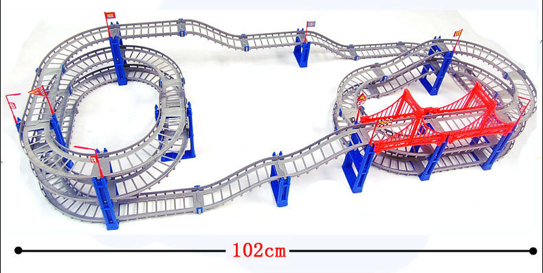 Image 4 - 140pcs supper big DIY Assemb Slots Off road Vehicle 3D Electric Rail Car 3Layers Slot Kit Spiral Track Roller Coaster Child Gift-in Diecasts & Toy Vehicles from Toys & Hobbies on AliExpress