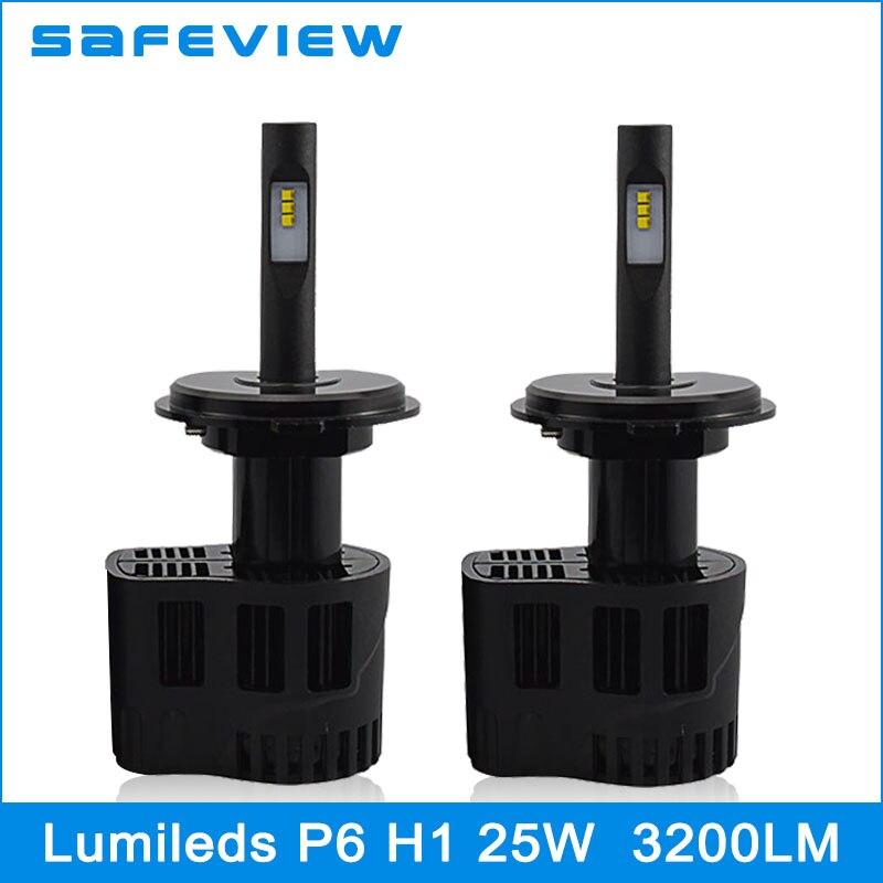 ФОТО Stable 25W H1 single beam Car LED Bulb Headlight Conversion Kit for PHILIPS ZES chips 5000K 6000K DC11V-30V