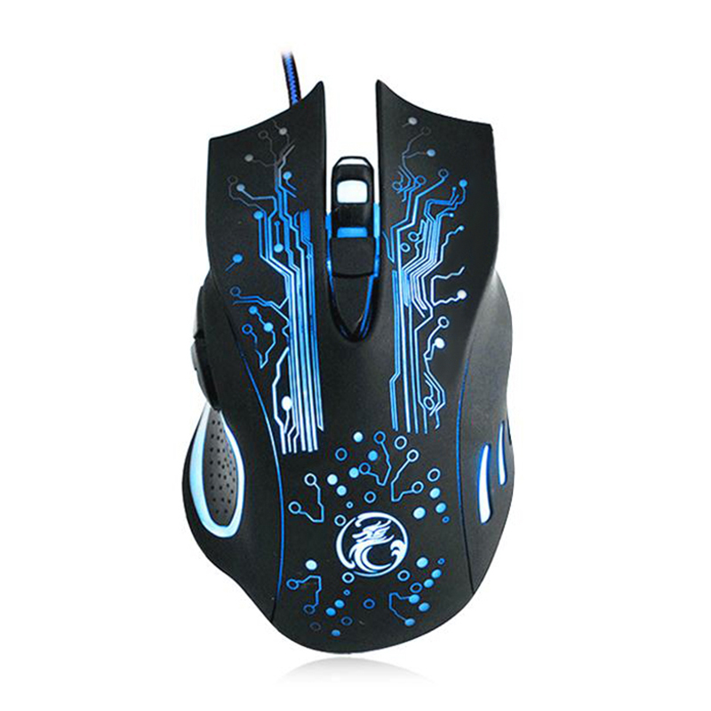 Wired Gaming Mouse USB Optical LED Lights Mouse Gamer 6 Buttons Computer Mice 5000dpi For PC Laptop dare u wcg armor soldier 6400dpi 7 programmable buttons metab usb wired mechanical gaming mouse