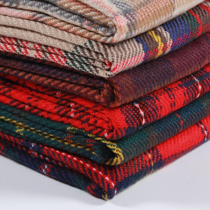 TagerWilen Luxury Brand Scarf 2018 Female Male Best Quality Classic Plaid Winter Warm Scarf Pashmina Tassels Women Wrap Shawl