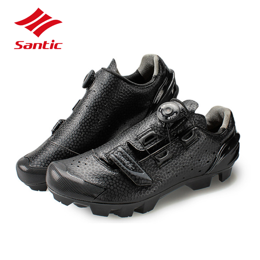 Santic Cycling Shoes MTB Men 2017 Self-Locking Mountain Bike Shoes Pro Bicycle Shoes Athletic Sneakers Zapatillas Ciclismo Black 2017brand sport mesh men running shoes athletic sneakers air breath increased within zapatillas deportivas trainers couple shoes