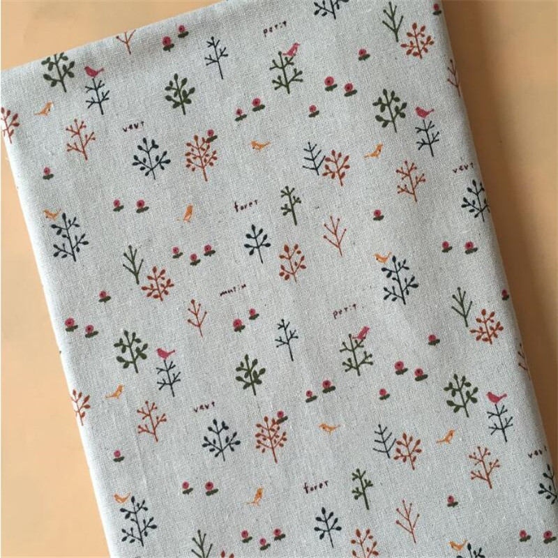 Cotton Linen Sewing Fabric Floral Printed Woven Patchwork Handmade Telas Quilting Home Textile Crafts