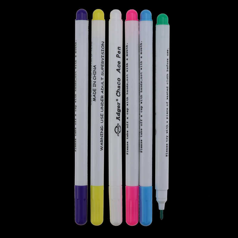 4 Pcs Larut Cross Stitch Air Dihapus Pena Grommet Tinta Penanda Kain Menandai Pena DIY Menjahit Rumah Alat