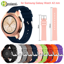20mm Silicone Watchband For Samsung Galaxy Watch 42mm Replacement smart watchstrap for Samsung Gear S2 Bracelet stripe 2018 new(China)