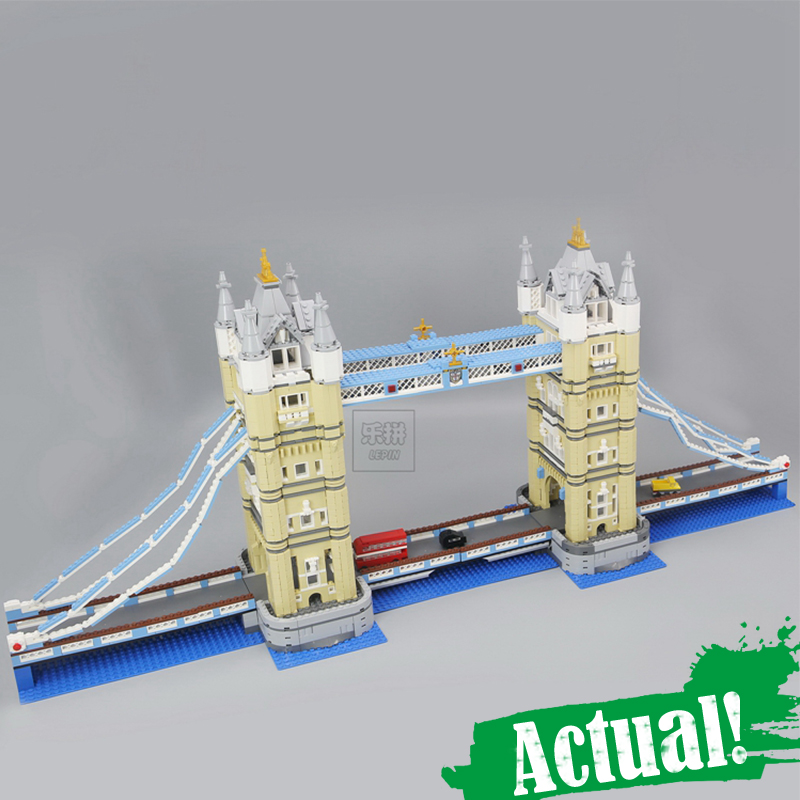 LEPIN 17004 City Street Creator London bridge Model Building Assembling Brick Toys Compatible 10214 Educational Toys brinquedos in stock new lepin 17004 city street series london bridge model building kits assembling brick toys compatible 10214