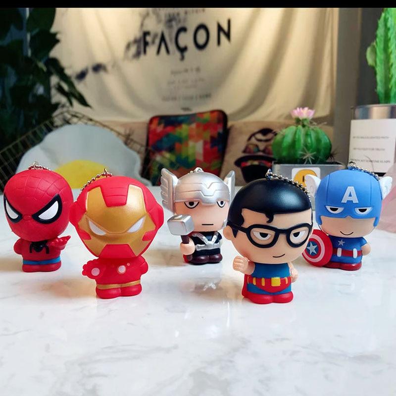 Wholesale 30pcs lot 6cm Mini The Avengers figures Iron man Captain American model action toys Thor