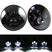 2 Pcs Black 7 Round Headlight Lamps Led H4 Headlights 7 7 Inch Led Headlight 12v