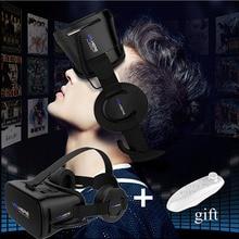 Visualizador 3D VR VR Aqui 3D Fone de Ouvido/Realidade Virtual Óculos Super VR Óculos + Remoto para Todos Os Telefone Imax 3D Filme de Vídeo Game Eyewear
