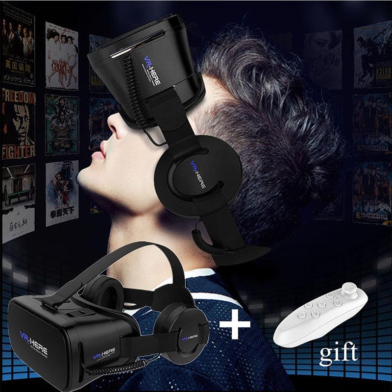 3D Viewer <font><b>VR</b></font> <font><b>Here</b></font> 3D <font><b>VR</b></font> Headset/Virtual Reality <font><b>Glasses</b></font> Super <font><b>VR</b></font> <font><b>Glasses</b></font>+Remote for All Phone 3D Imax Video Movie Game Eyewear
