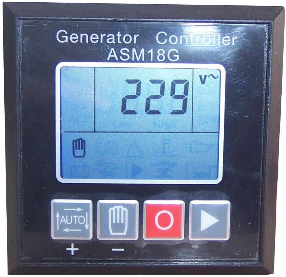 Pièces de groupe électrogène diesel de contrôleur de générateur ASM18G module de commande de panneau de panneau de moniteur électronique d'alternateur de puissance de démarrage automatique