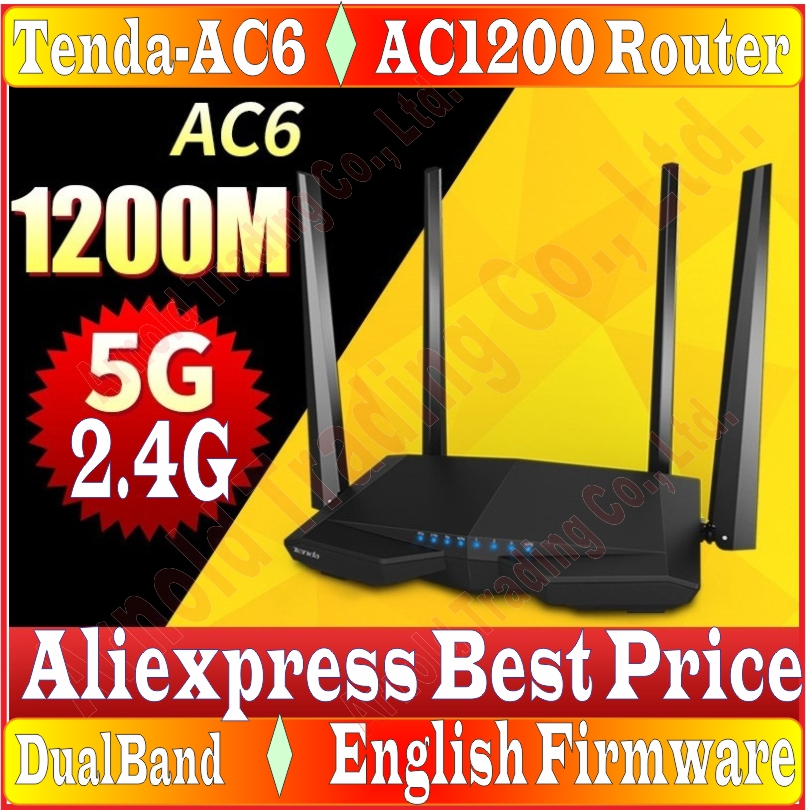 Tenda AC6 Wifi Router Dual Band 1200M Wireless Wifi Repeater Remote Control APP