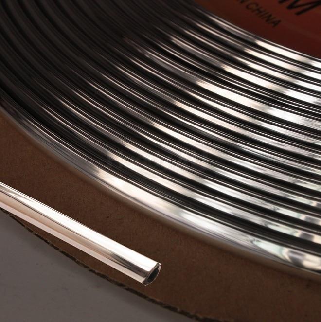 20 Feet Chrome Silver Door Edge Guard Protection Trim