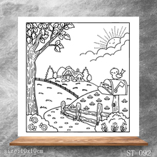 Beautiful country scenery Transparent Clear Stamps DIY Scrapbooking Album Card Making DIY Decoration Making Embossing Stencil happy birthday words clear transparent stamps diy crafts card album making stencil decor scrapbooking embossing new stamps 2019