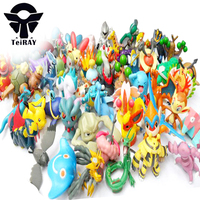Kawaii Pikachu Dinosaurs Animals Figurines 100Pcs Set Japan Anime Pvc Action Figure Manga Game Brinquedos Kids