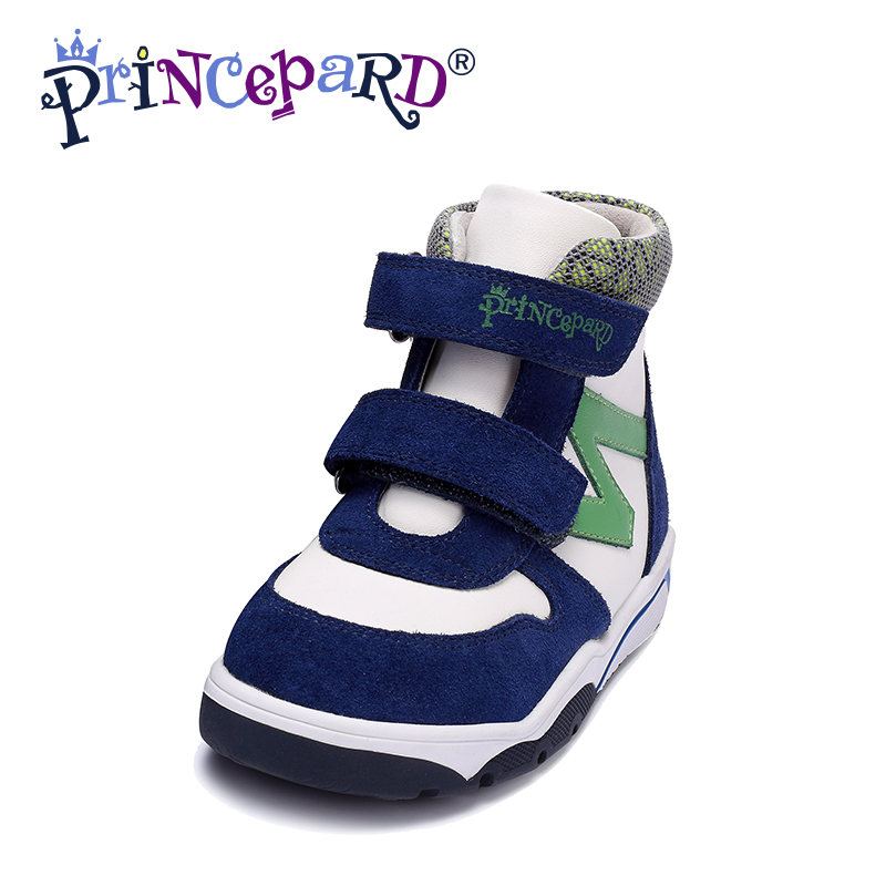 Princepard 2017 New  navy green Microfiber kids shoes for boys  orthopedic sneakes  baby boys  children orthopedic shoes  kids