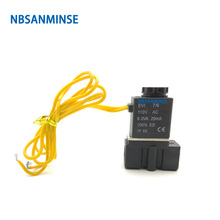 NBSANMINSE 2P025 G1/4 2 Way Solenoid Valve Air Plastic For Water Oil Normally Closed AC220V AC110V DC24V DC12V