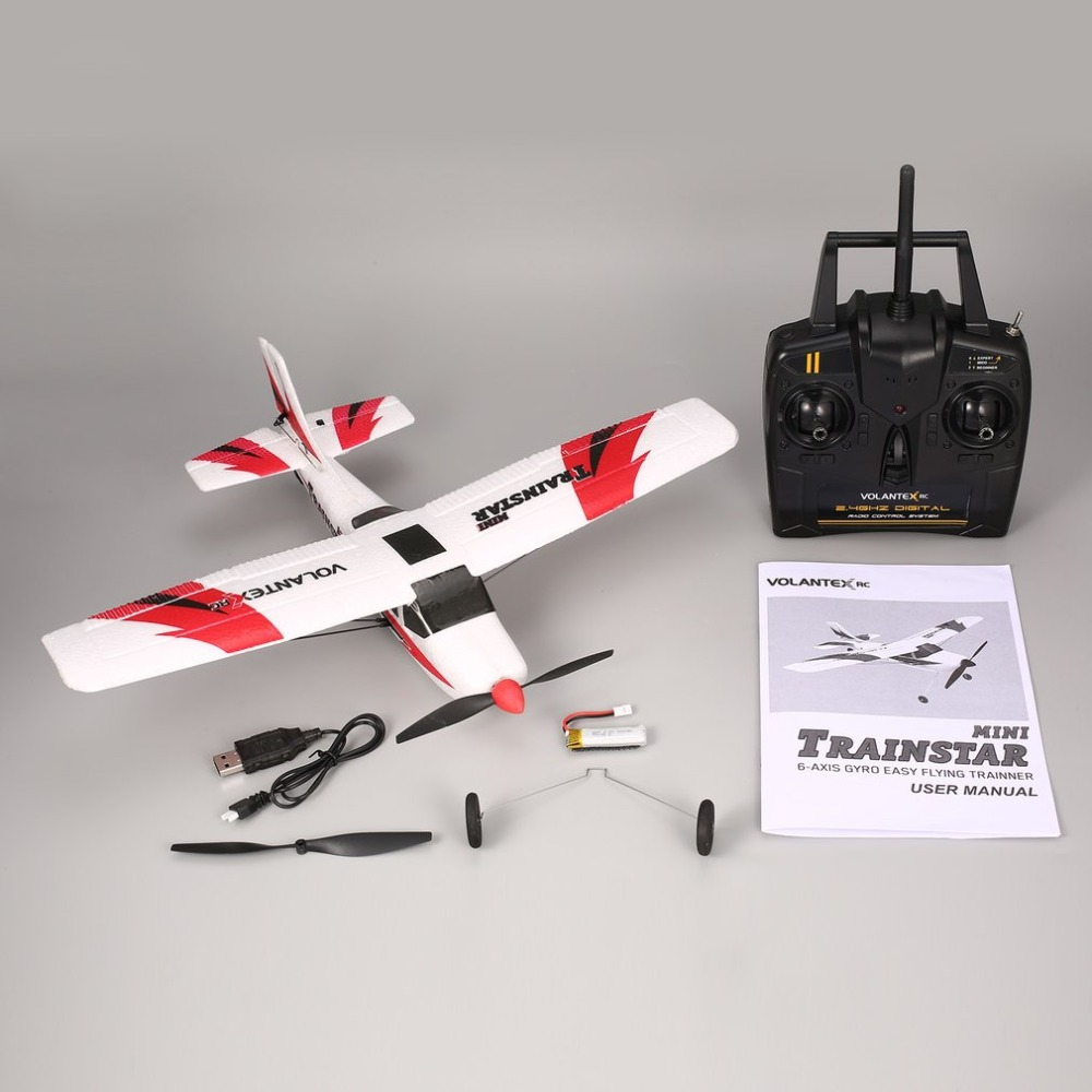 V761 1 2.4Ghz 3CH Mini Trainstar 6 Axis Remote Control RC Airplane Fixed Wing Drone Plane RTF for Kids Gift Present|RC Airplanes| |  - title=