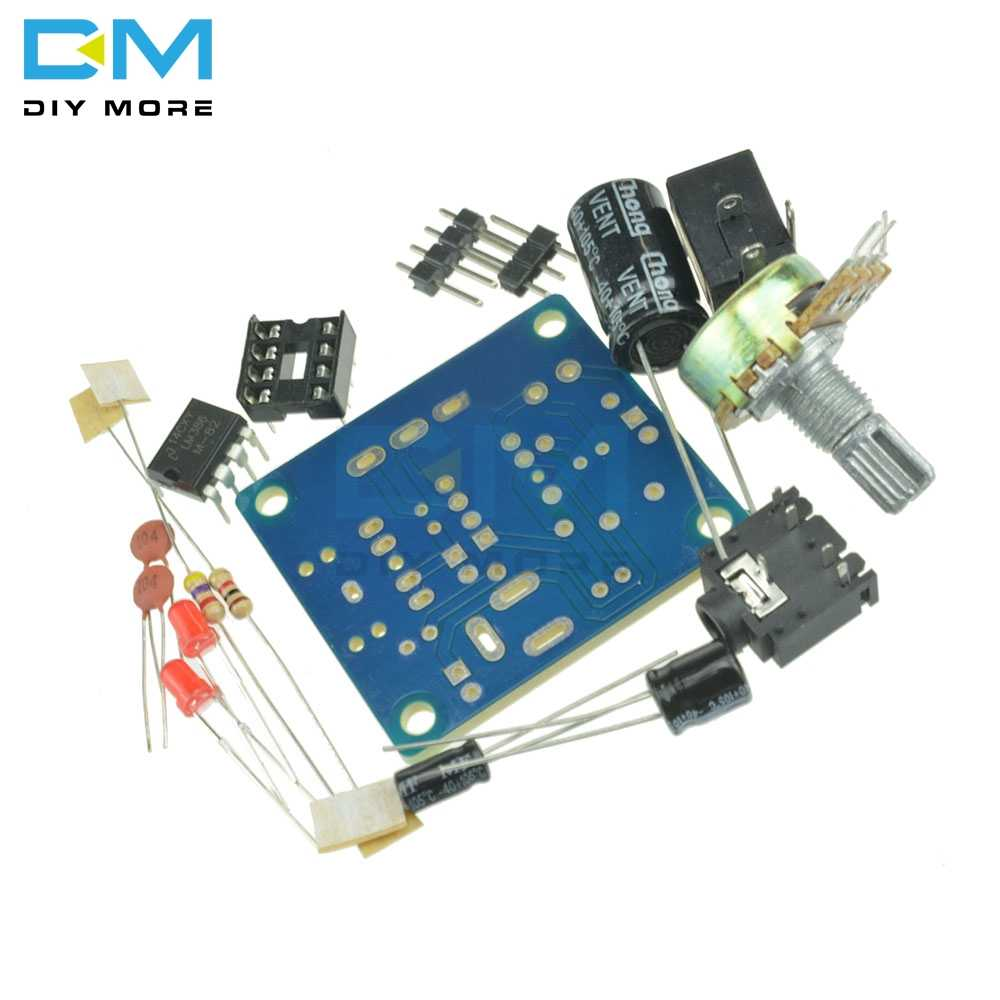 LM386 Super Mini Amplificador de Audio Kit DIY Suite Trousse LM386 Amplificador módulo 3,5mm 3-12V más allá de TDA2030 DIY Kit 3,5mm