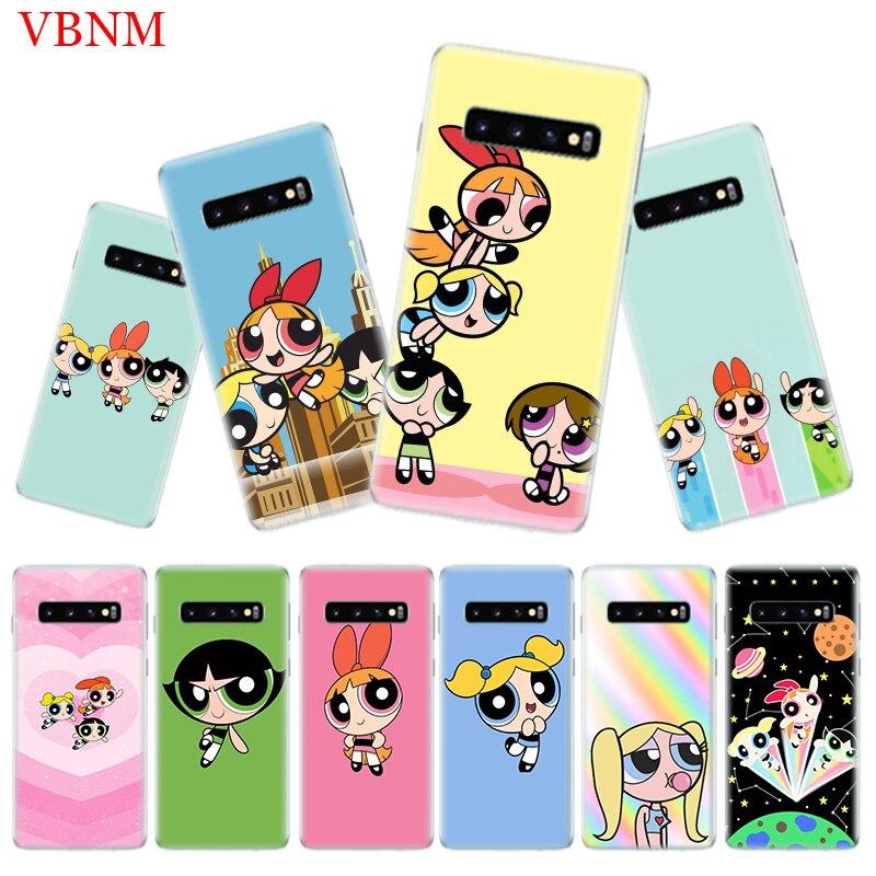 The Powerpuff Girls Soft Phone Case for Samsung Galaxy S10 Plus S10E A50 A70 A30 A10 A20E M40 M30 M20 M10 A20 A80 A40 A60 Cover