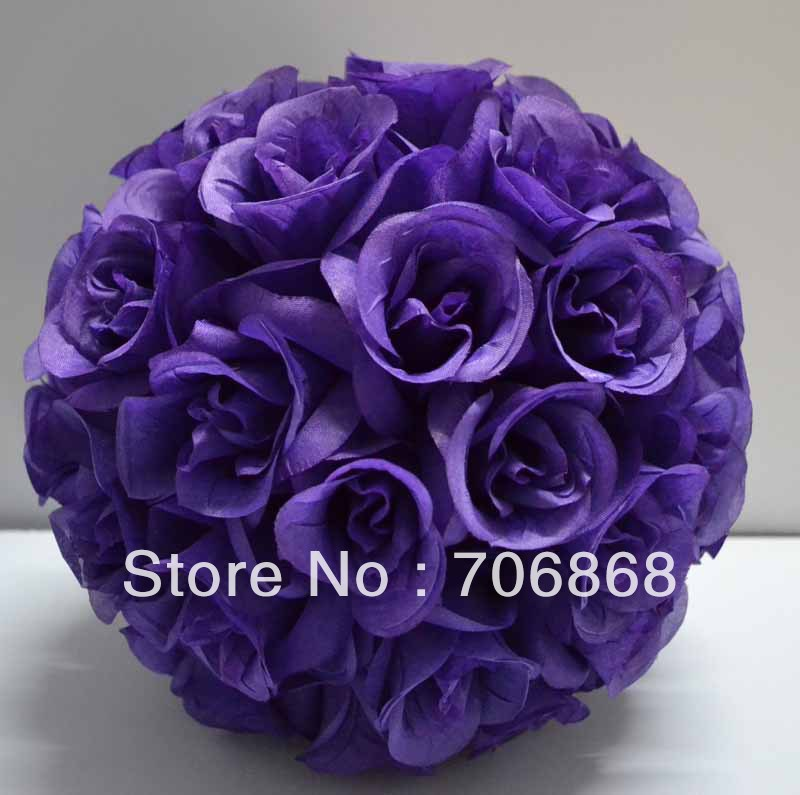 12 pack of 10 dark purple color artificial silk kissing rose 12 pack of 10 dark purple color artificial silk kissing rose flower ball wedding centerpieces church decoration in artificial dried flowers from home mightylinksfo