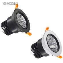 цена на 7w 10w 15w 20w Dimmable LED COB chip downlight Recessed LED Ceiling light Spot Light Lamp White/ warm white led lamp
